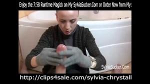POV Hungarian Knit Gloves Handjob and Cumshot Goddess Sylvia Chrystall HD.