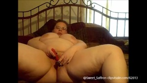 Hot BBW Glass Dildo Fuck and Vibe Play