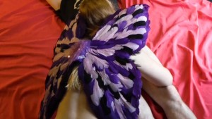 COSPLAY FAERIE TAKES MESSY CUMSHOT IN HER MOUTH - Whore r Stories