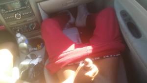 Ebony Babe gives BBC BJ in car