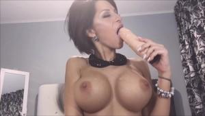 Anisyia Livejasmin 2016 blowjob spit on tits