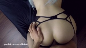 Young hot blonde slut takes it in the ass for the first time on camera POV