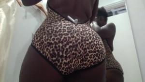 Dressing room shopping AA Spy POV big ass leopard print
