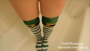 Pissing in my St Patrick s Day Socks!