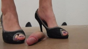 Cockcrush And Cock Play With High Heels