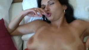 BLACK HAIRED WHORE GETTING FUCKED AND RECEIVING A FACIAL