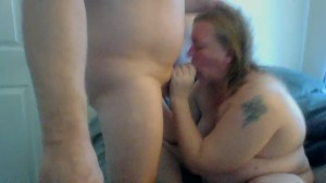 Sucking a nice fat dick gets my pussy wett...