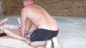 Huge Squirting Orgasm in Abandoned Factory ( Bottle in Pussy, Vibrator)
