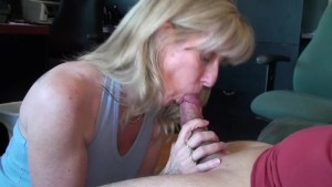 Mature Blonde Sucks and Swallows Her Pornhub Subscriber!