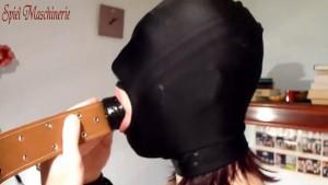 Huge penis gag in slut s throat - Shut up and swallow!