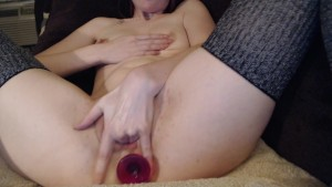 Crystal Rayne drinks her squirt