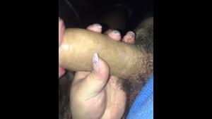 Chubby British chav sucks big cock