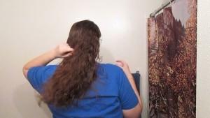 Hair Journal: Combing Long Curly Strawberry Blonde Hair - Week 6 (ASMR)