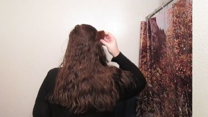 Hair Journal: Combing Long Curly Strawberry Blonde Hair - Week 13 (ASMR)