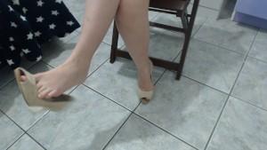 Dangling prom heels