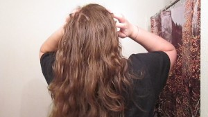 Removing a Side Bun with Long Curly Hair