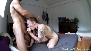 Pale Ass Girlfriend Hurting for Hard Doggystyle