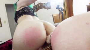 Watch me fuck and suck my dildo on a mirror