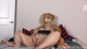 Chubby Tattooed Teen s Teddy Bear Fantasy