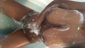 More of my big black soapy tits for you!