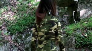 Catsuit exploration in old WW2 bunker