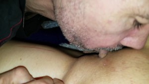 no panties dress pulled up and pussy and clit being sucked | close up
