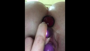 SOLO CLIT HARD ORGASM = WET PUSSY CONTRACTIONS