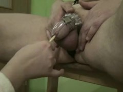 Wife gives me catheter through chastity device