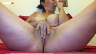 hot milf with huge natural boobs rides her dildo | cam4