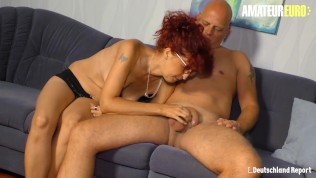 DeutchlandReport - German Mature Redhead Picked Up For SEX - AmateurEuro