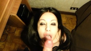 goth blowjob cumshot - Dead_Girl Goth Teen With Pigtails Used Fuck Mouth Deepthroat Cum On Face