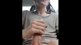 Risky Car Cumshot