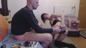 nasty anal toying and deepthroating pleasure of horny amateur wife part 1/2