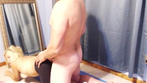 Cum Filled Blonde In Yoga Pants