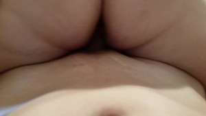 Riding cock reverse cowgirl