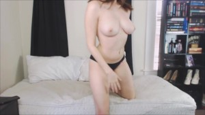 Brunette Tease in Panties Tells You To Lick Her Ass To Get Hard For Her
