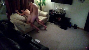 sensual sex on the couch
