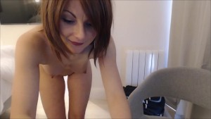 My GirlFriend gives me a Spanking by Surprise when I'm in Webcam