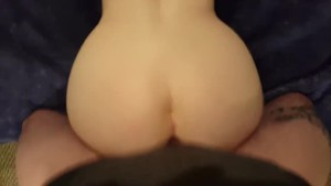 POV Doggystyle Fucking my wife s creamy pussy and Cum on her back!
