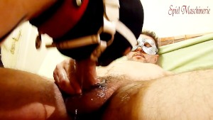 Slut choking on cock in her throat - Ring gag deepthroat extravagance III
