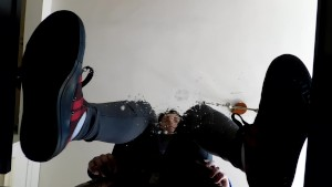 Spitting on your face under my tartan Converse and my slave lick my spits