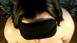 Handcuffed and Blindfolded Blowjob