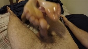Long footjob ends with a big cumshot on toes and feet. Lubed solejob.