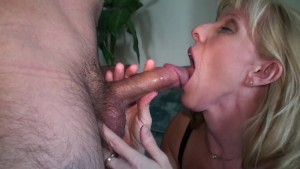 53yo Mature Blonde Takes Care Of A Teen Neighbour