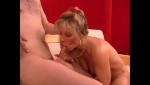 Mature Blonde Fucks A 10 Inch Boy