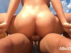 3d animation with big tits western lesbians