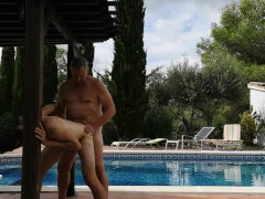 Grandpa Fucks Twink Outdoors - Old Young Bareback