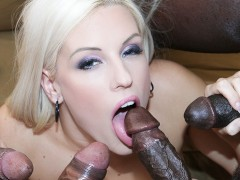 Hot babe gangbang with black cocks she loves to get ass fucked