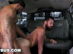 BAITBUS - Str8 Bait Butt Fucks Hairy Man Bear In Van (Loop)