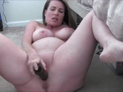 Horny Pregnant Milf Masturbates and Encourages You To Jerk Off For Her